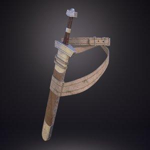 3D sword scabbard model