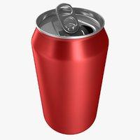 3D realistic soda open