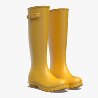 Womens Yellow Tall Refined Rain Boots