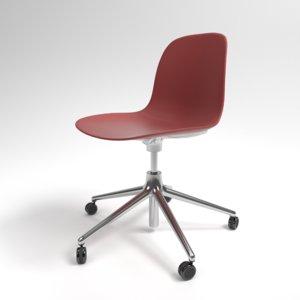 3D model interior normann form swivel chair