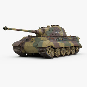 ww2 german tiger 2 tank 3D model