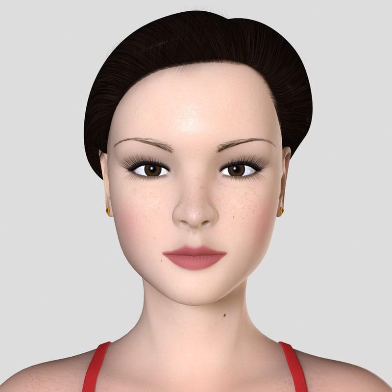 female skin 3D model