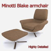 Minotti Blake-Soft lounge chair set