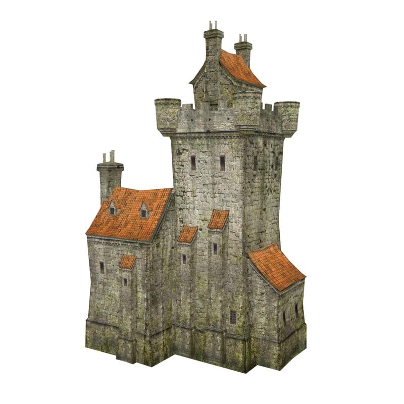 3D ancient house