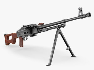 3D model machine gun pkm
