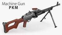 3D model machine gun pkm