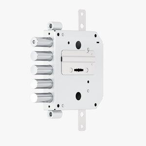 3D door lock model