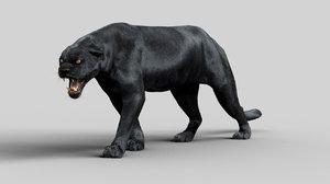 3D model black panther