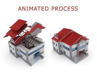 3D house building process