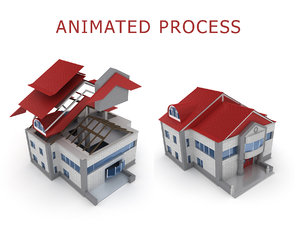 3D house building process