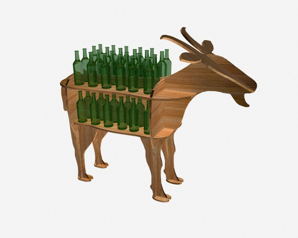 3D shelf goat