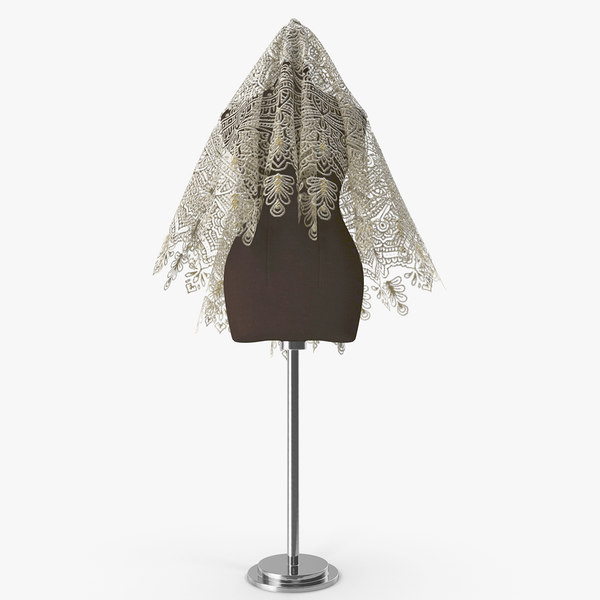 3D veil bride mannequin
