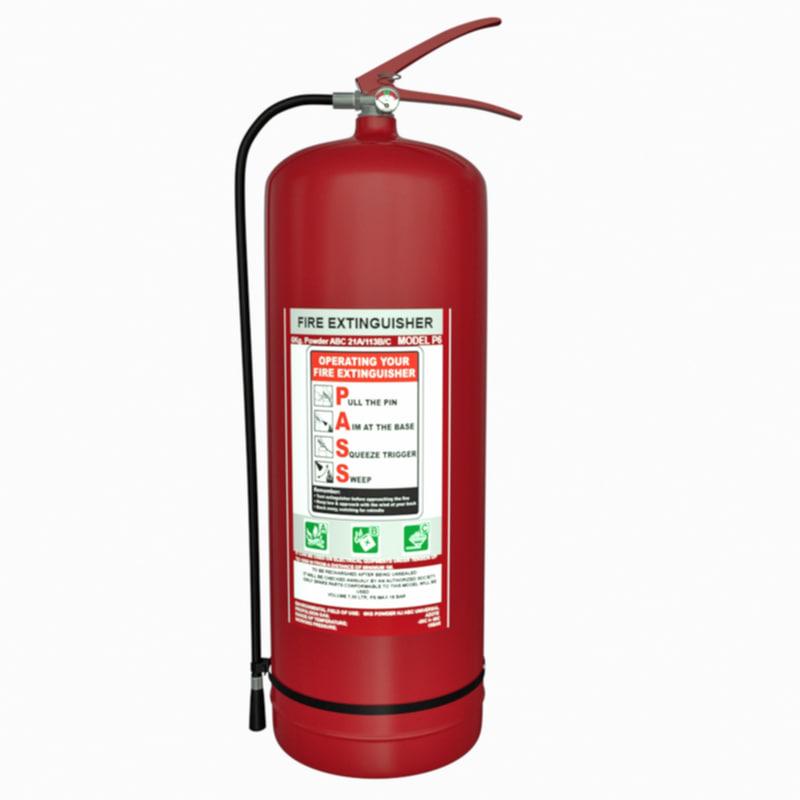abc extinguisher 3D model