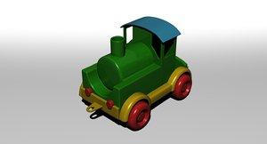 3D toy train model