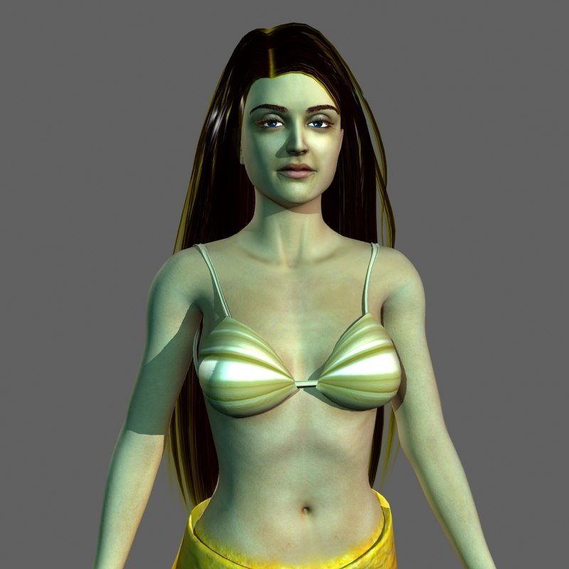 mermaid 2011-64 bit 3D model