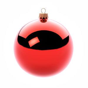 3D closeup christmas tree ornament model