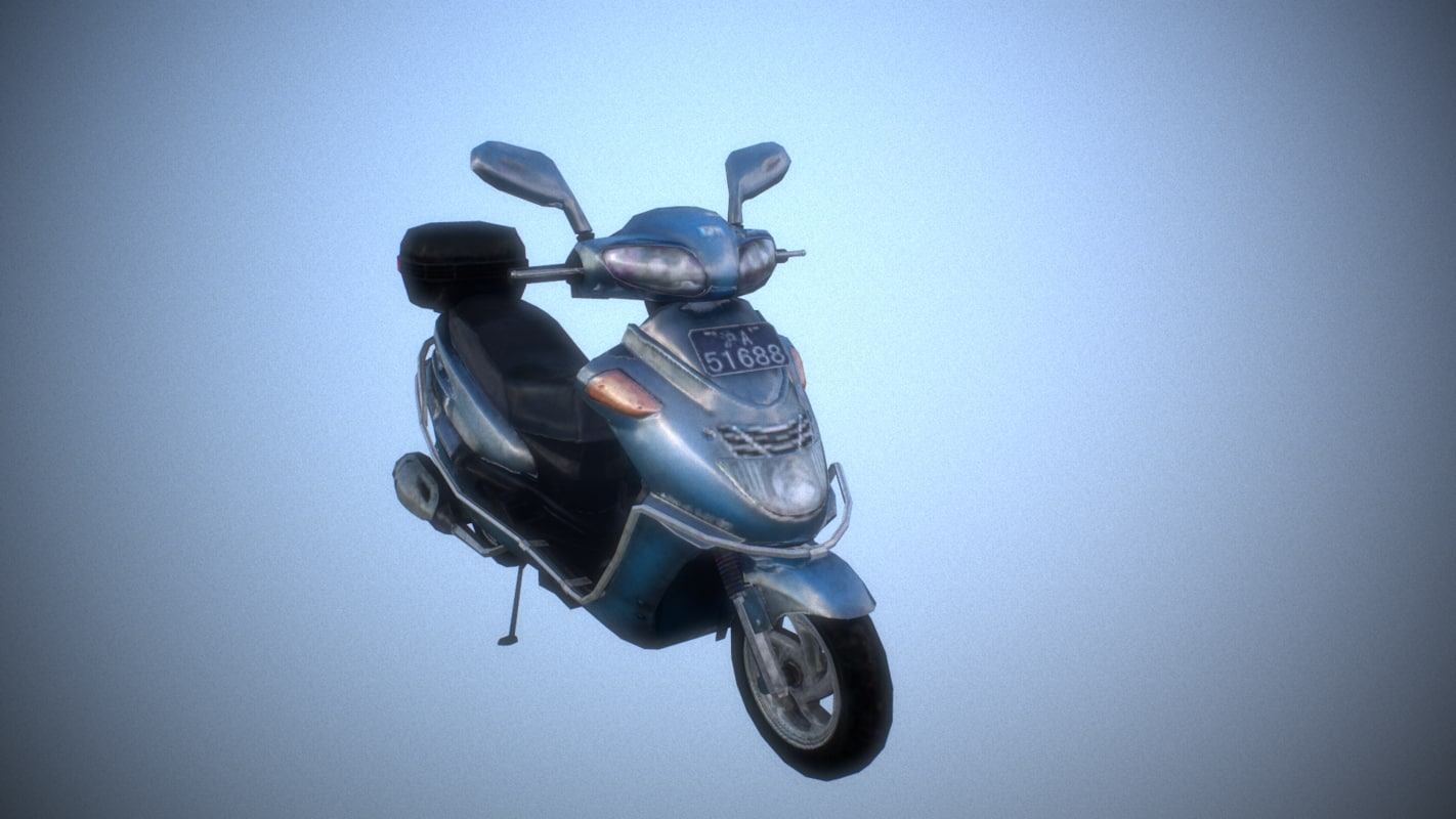 3D ready motor scooter -