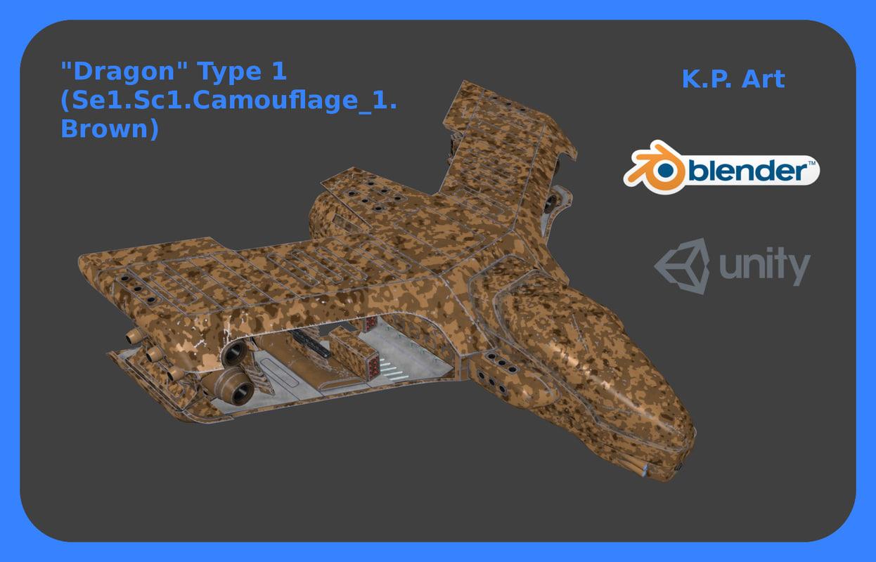 space ship dragon type model