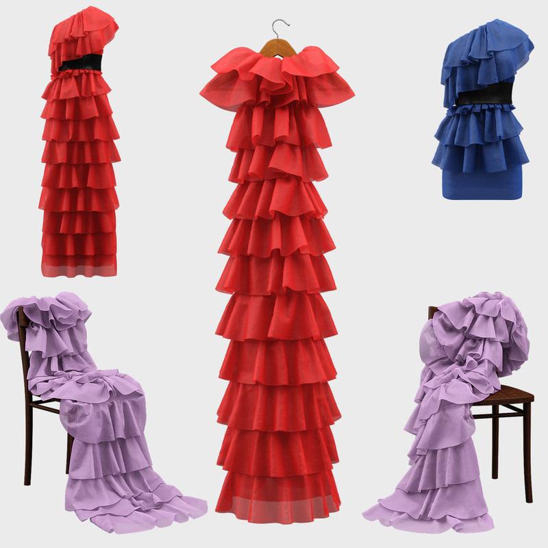 3D model dresses interior