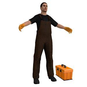 male man guy 3D model