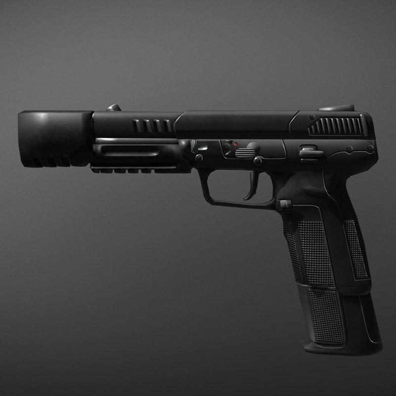 3D fn five-seven model