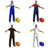 janitors man 3D