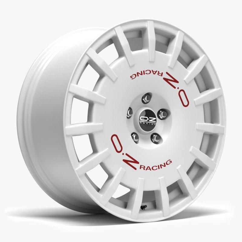 oz racing wheel 3D model