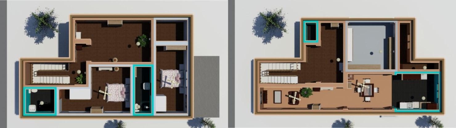 3D furnish floor house interiors