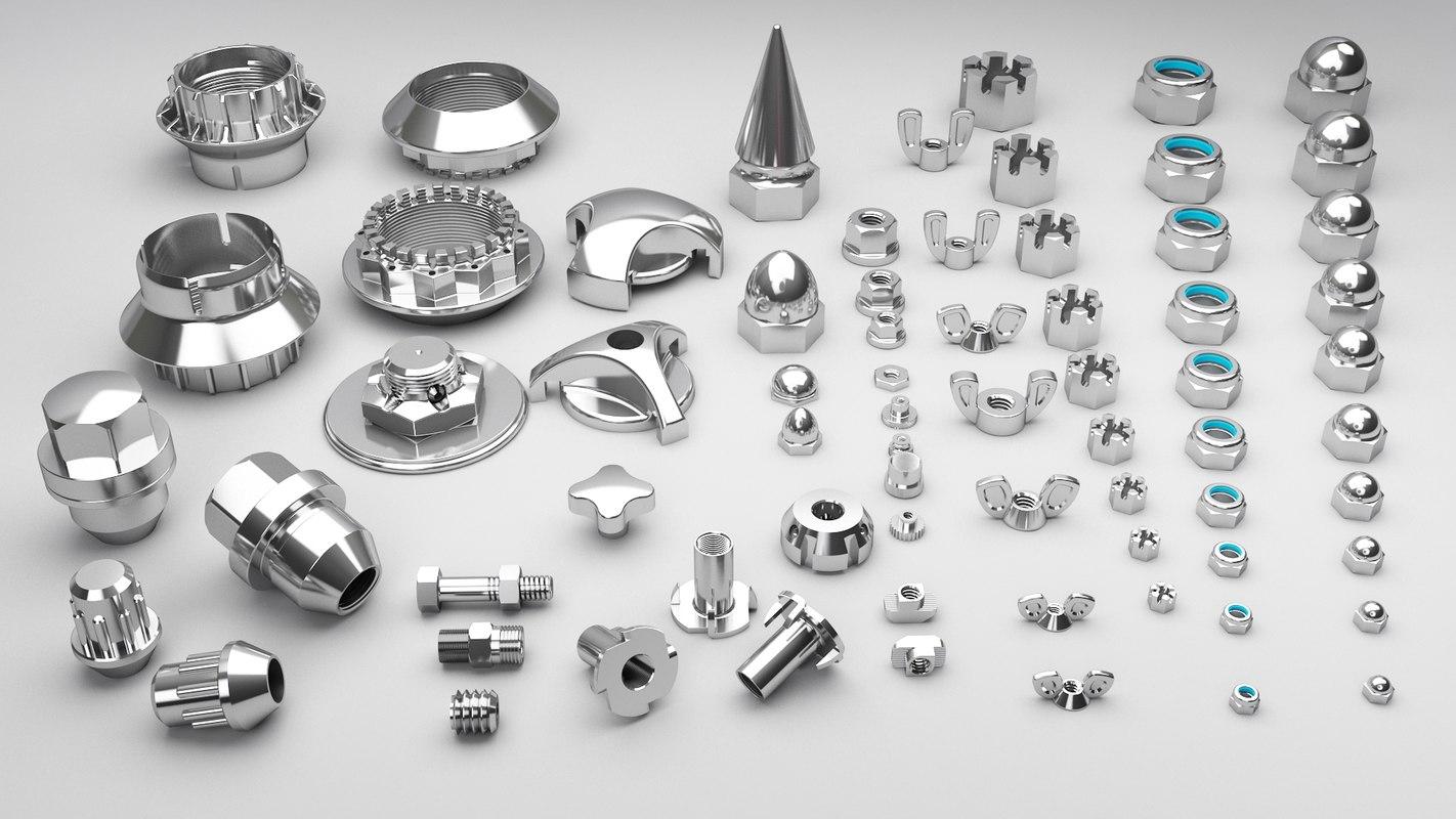 nut ducati titanium 3D model