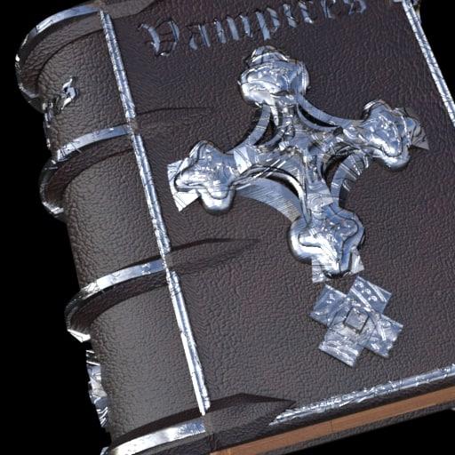 vampire hunter book 3D model