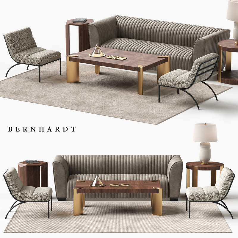 3D bernhardt kent sofa set