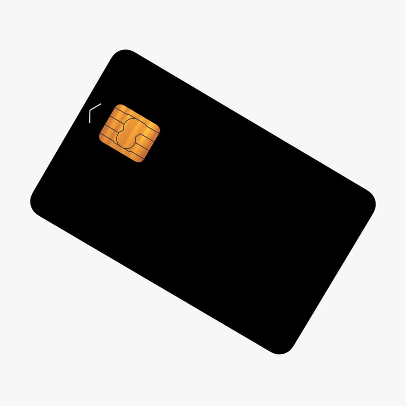 3D generic credit card model