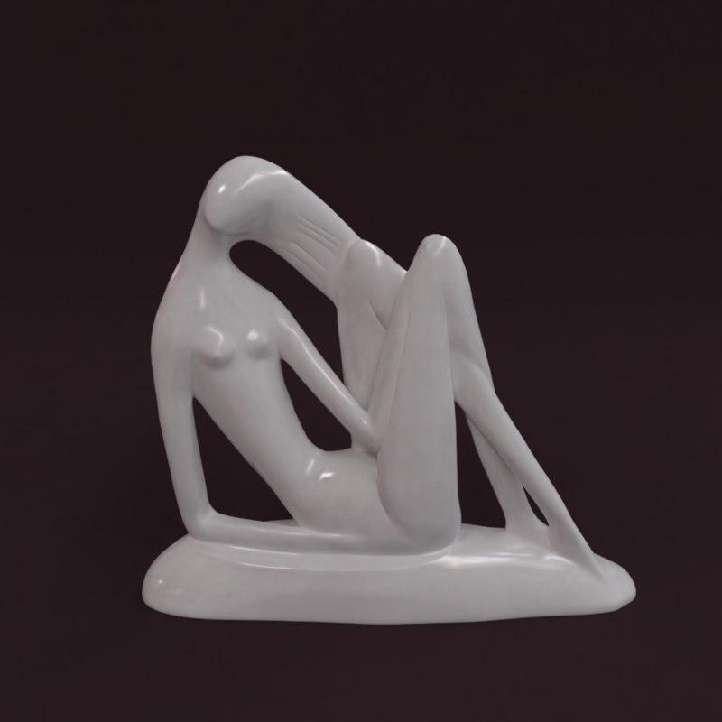 3D model statuette