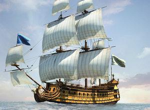 3D soleil royal ship