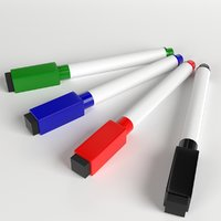 magnetic whiteboard pen markers 3D