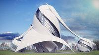 3D futuristic hospital model