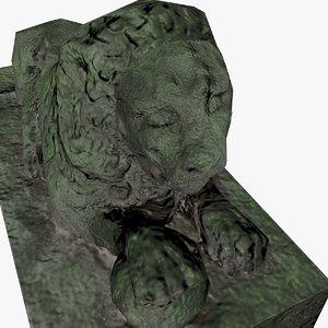 3D lion sculpture