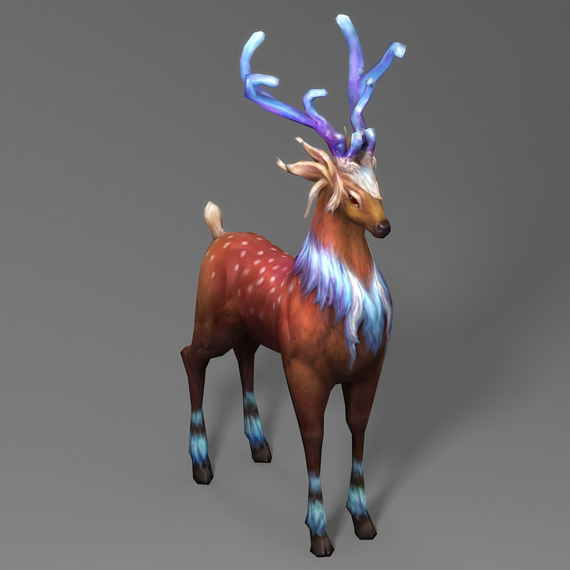 christmas elk 3D model