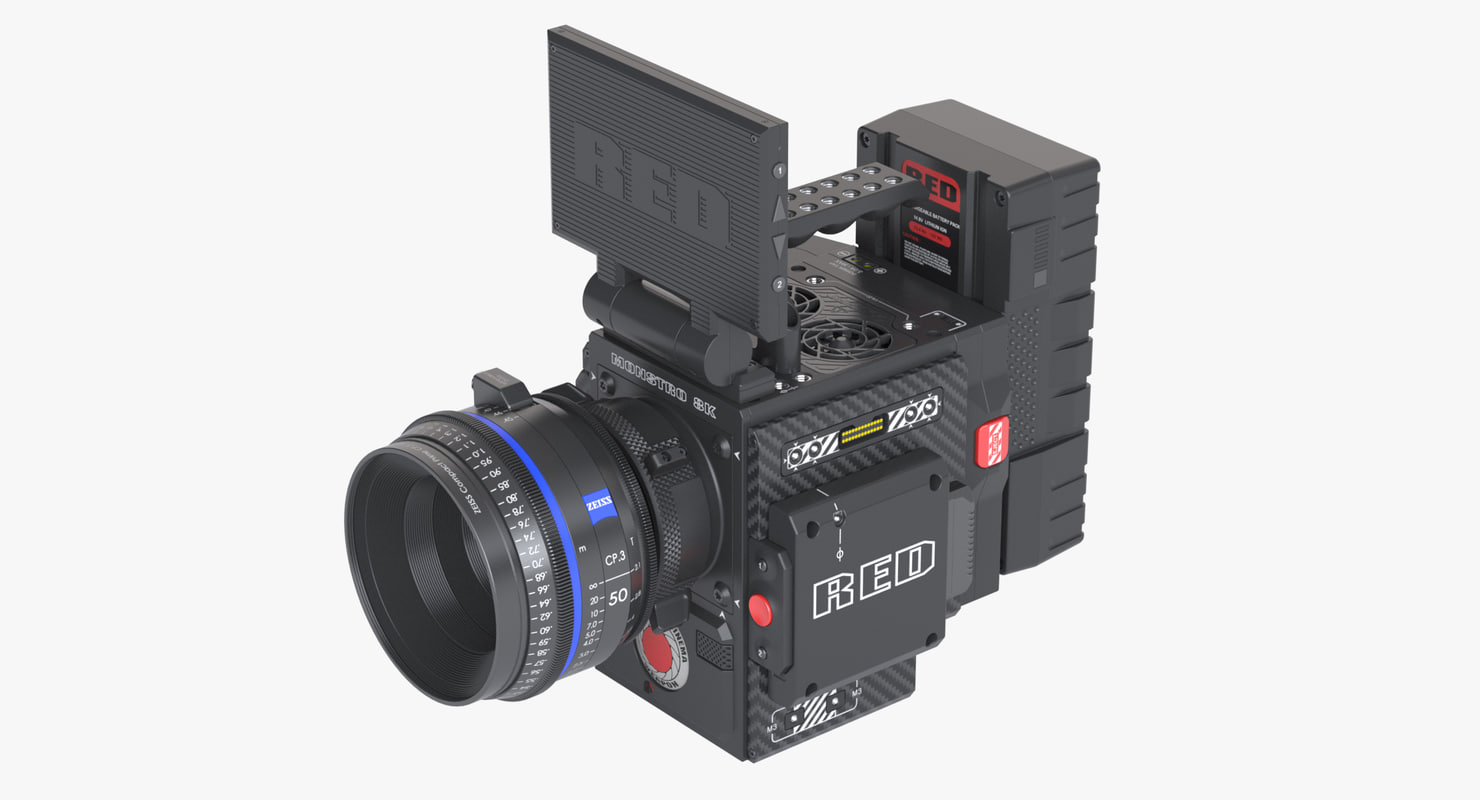 3D red weapon monstro camera model