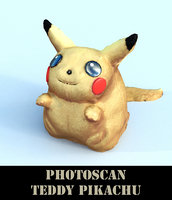 teddy pikachu 3D model