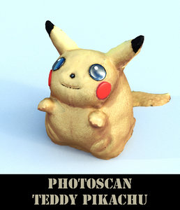 teddy pikachu 3D model