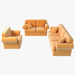3D polar sofa set couch