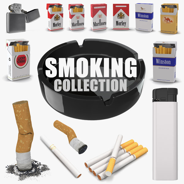smoking set lighter 3D model