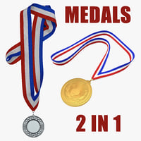 3D medals sport award model