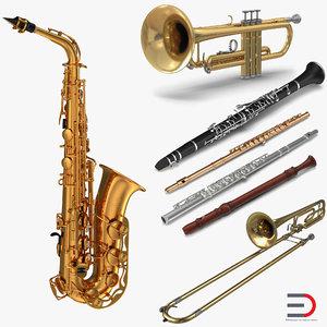 wind instruments 2 3D model