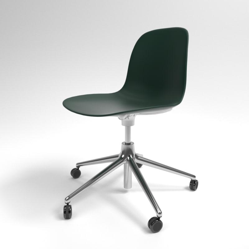 interior normann form swivel chair 3D