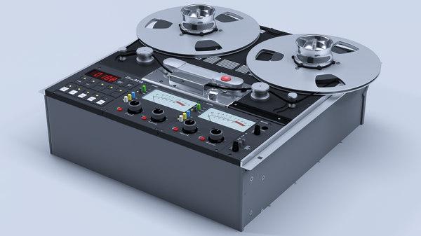 3D reel tape recorder studer