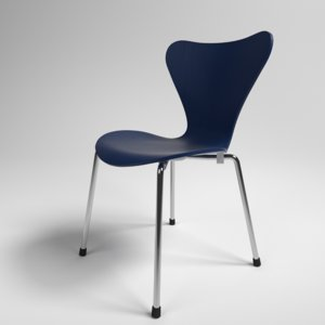interior fritz hansen series 7 3D model