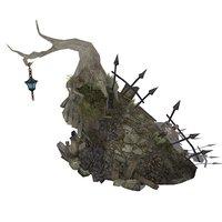 cartoon cave 3D model