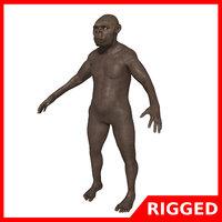 3D australopithecus blender model